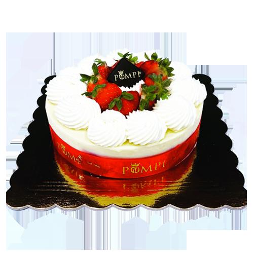 torta gelato fragole