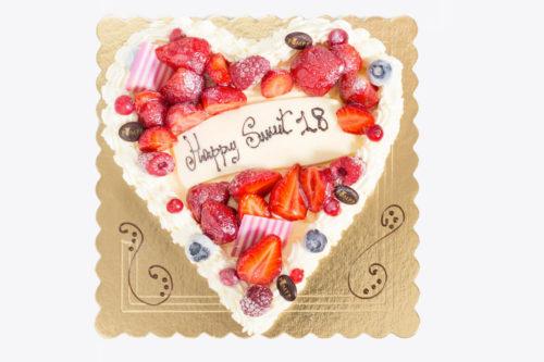 Torta Cuore di Tiramisu Frutti di Bosco