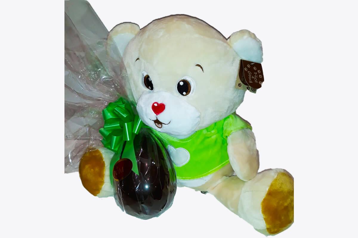 Orsetto con Uovo grande di Pasqua