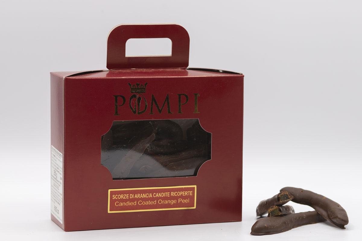 Scorzette di Arancia candita ricoperte di Cioccolato