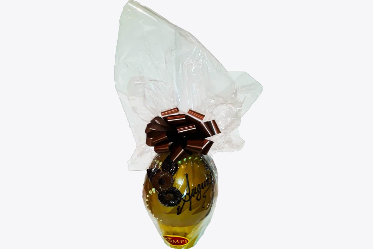 Uovo di Pasqua al Cioccolato Bianco e Caramello