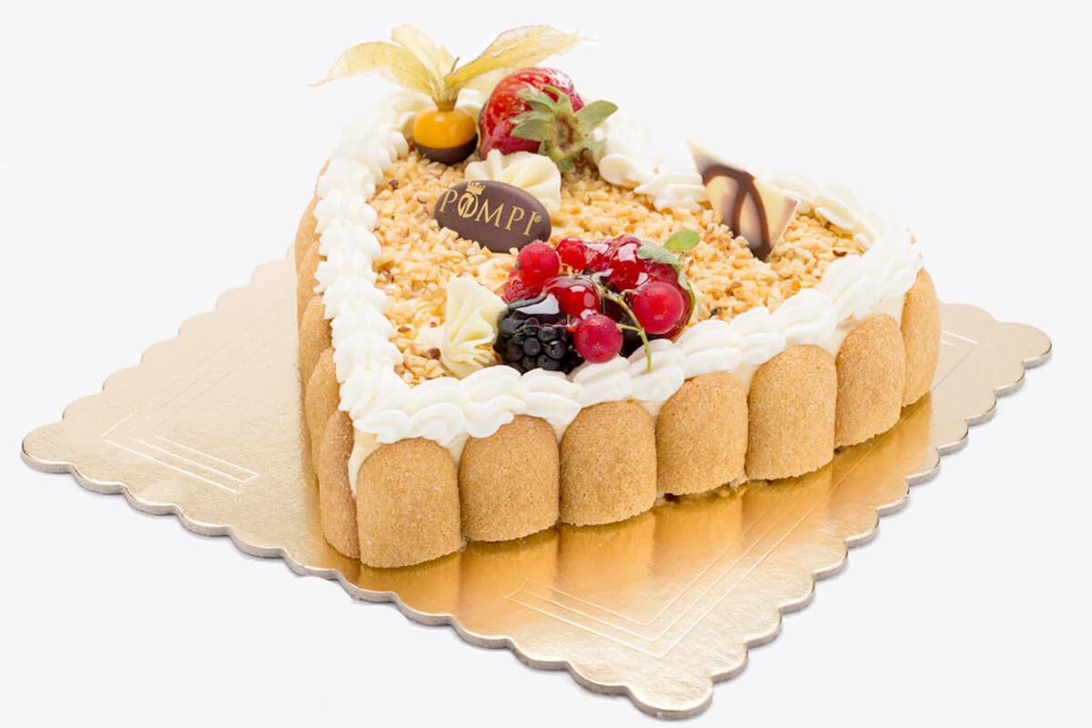 Torta Cuore Tiramisu Nocciola