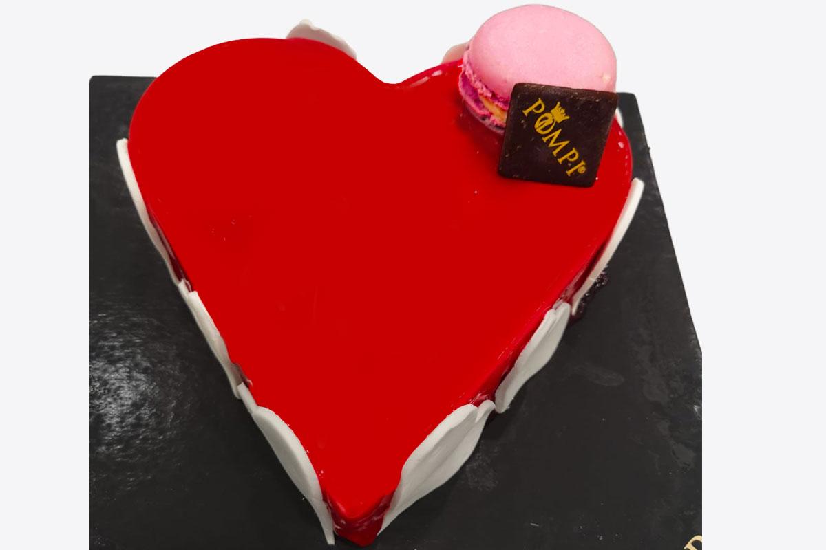 Torta Cuore Lampone
