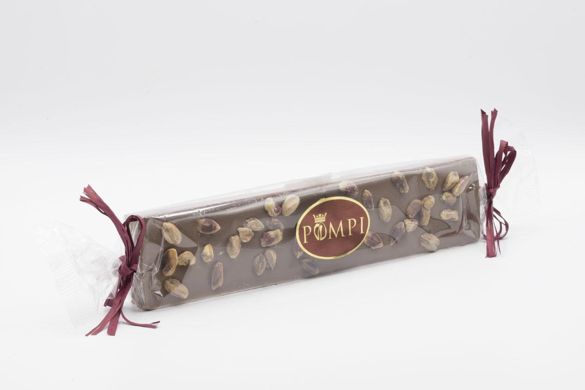 Torrone Cioccolato Gianduia e Pistacchio